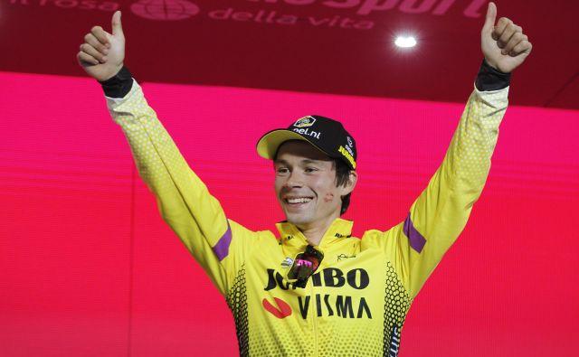 Primož Roglič je prvi favorit za zmago na jutrišnji vožnji na kronometer, danes je brez težav opravil z najdaljšo etapo Gira. FOTO: Leon Vidic/Delo