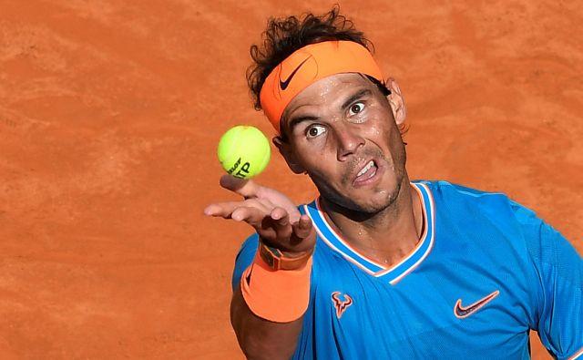 Rafael Nadal se bo danes potegoval za že deveto turnirsko zmago v Rimu. FOTO: Reuters