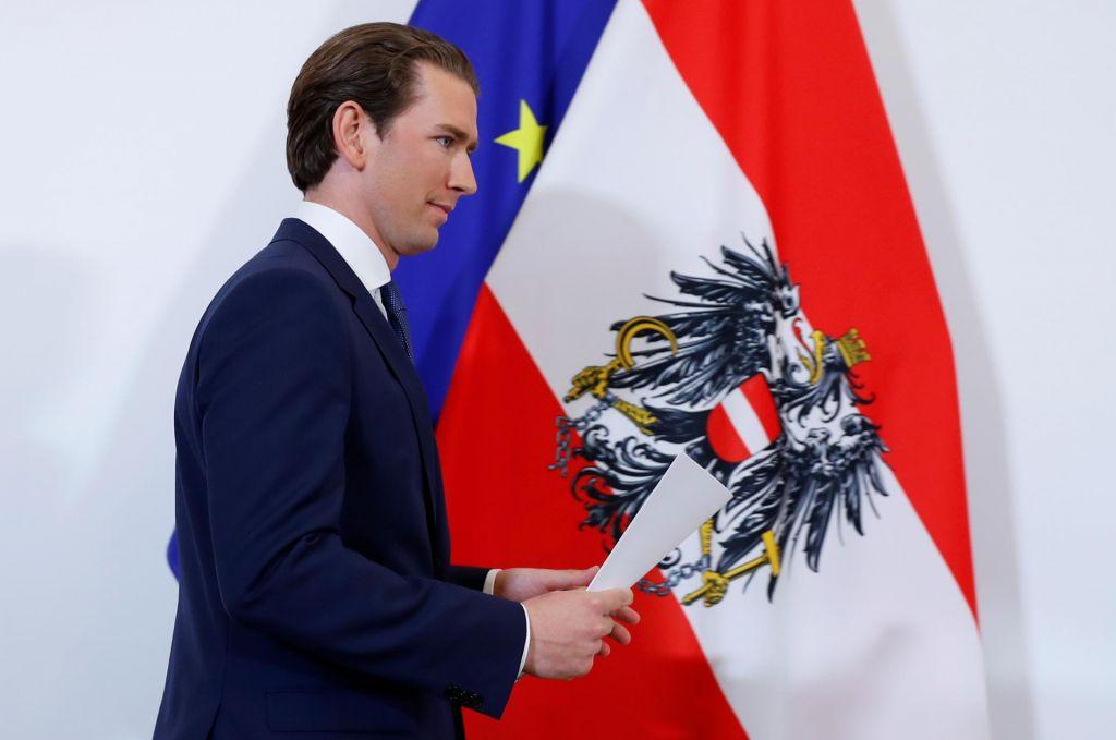 FOTO:Avstrijski kancler Kurz napovedal predčasne volitve