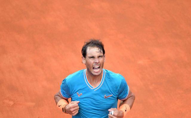 Rafael Nadal je že devetič slavil v Rimu. FOTO: AFP