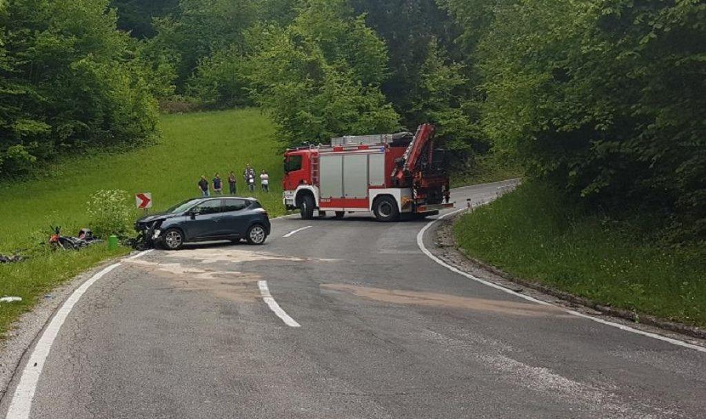 V nesreči na cesti Novo mesto–Metlika umrl motorist