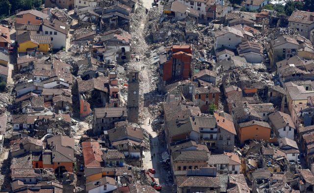 V Italiji so imeli v preteklih letih hude potrese. FOTO: Stefano Rellandini/Reuters
