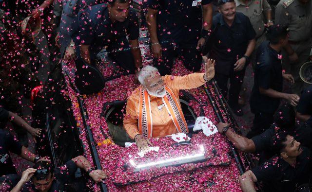 Vprašanje je, ali bo Modijeva zmaga pomenila nadaljevanje erozije indijske liberalne tradicije. FOTO: Reuters