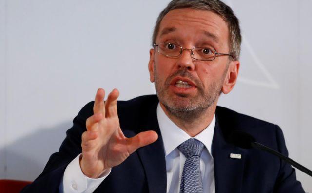 Danes je bil glavni »zvezdnik« političnih dogajanj svobodnjaški notranji minister Herbert Kickl.<br /> FOTO: Reuters