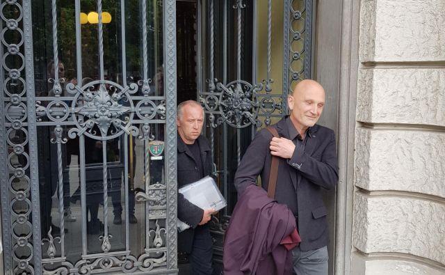 Gregor Kavčič in njegov zagovornik Boštjan Penko. FOTO: Jure Predanič