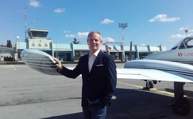 Robert Krajnc, direktor Aerodroma Portorož, meni, da je družba lani poslovala uspešno. Foto Nataša Čepar