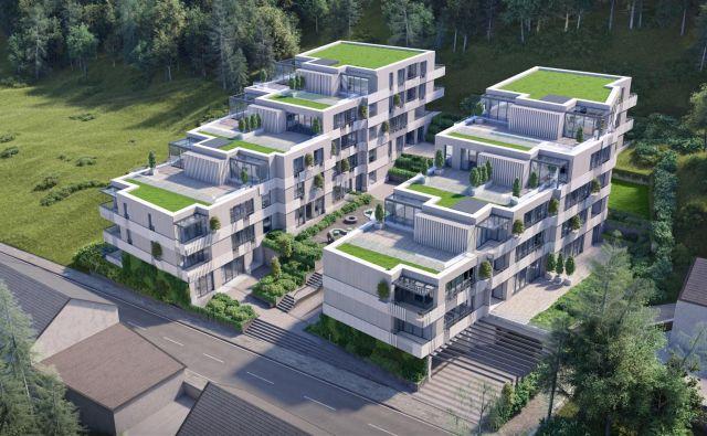 Na Hradeckega cesti so zasnovali projekt Devana park s 47 prestižnimi stanovanji. FOTO: Stoja Trade