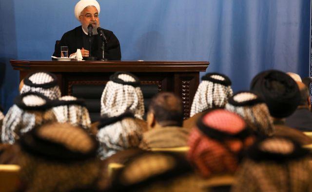 Med glavnimi zagovorniki jedrskega dogovora je iranski predsednik Hasan Rohani, ki je včeraj zavrnil možnost novih pogajanj z ZDA. FOTO Reuters