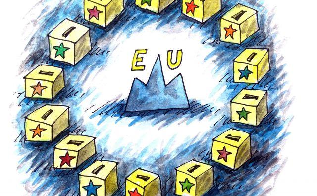 Evropske volitve KARIKATURA: Marko Kočevar