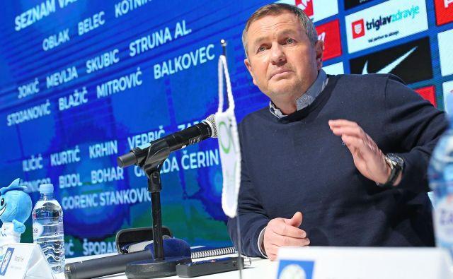 Selektor Matjaž Kek bo v ponedeljek razkril seznam reprezentantov za junijski tekmi z Avstrijo in Latvijo. FOTO: Tomi Lombar