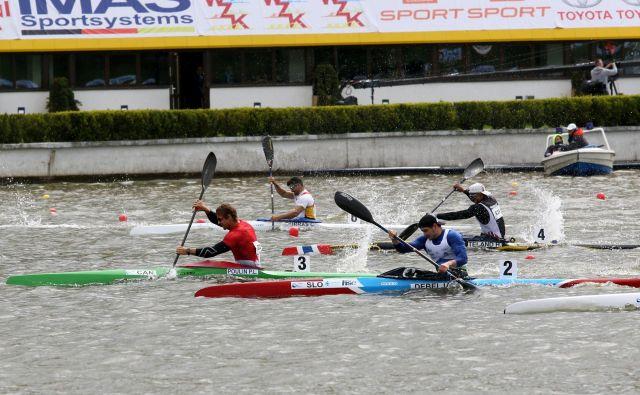 Vid Debeljak ni bil zadovoljen s svojim veslanjem, čeprav se je uvrstil v polfinale. FOTO: KZS
