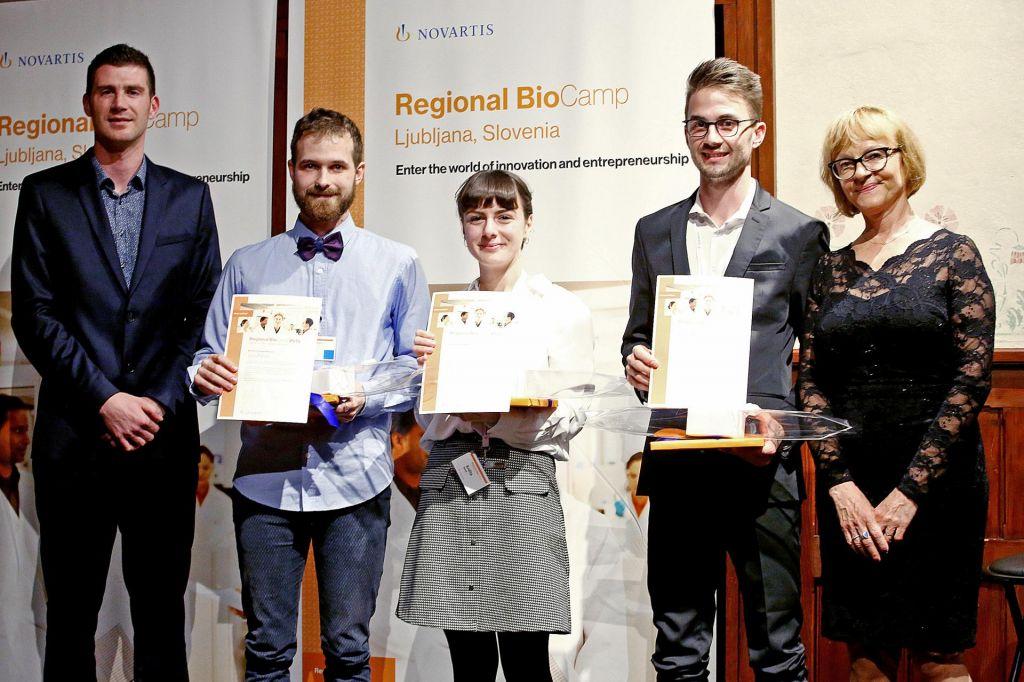 Na Novartisovem BioCampu nagradili najboljše študente