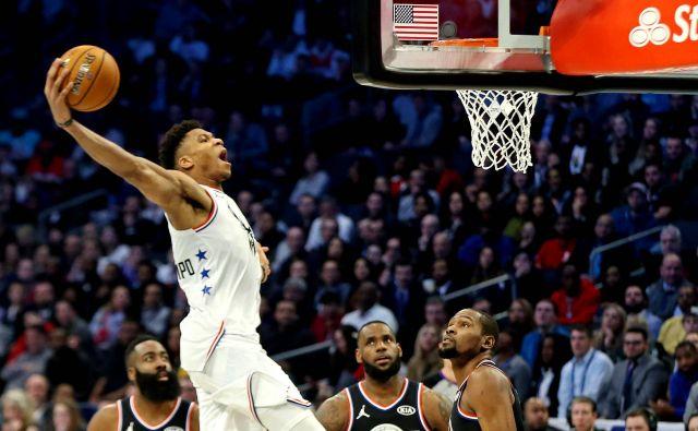 Giannis Antetokounmpo je resen kandidat za naslov košarkarja sezone v ligi NBA. FOTO: USA Today Sports