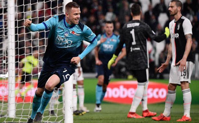 Josip Iličić je opozoril nase tudi v tekmi z Juventusom. FOTO: AFP