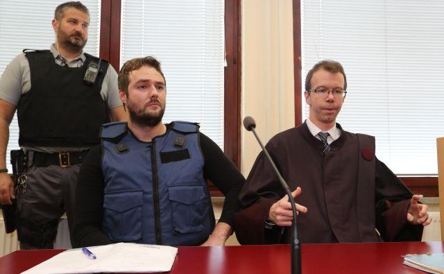 Sebastien Abramov s svojim zagovornikom Žigo Podobnikom. FOTO: Dejan Javornik
