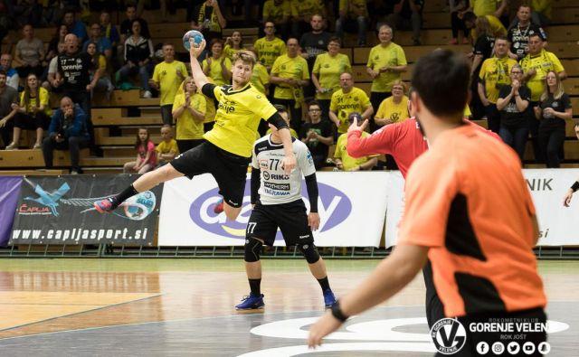 Zlati mladinski reprezentant Miha Kavčič je v Gorenju naredil velik korak naprej. FOTO: Rok Jošt/RK Gorenje