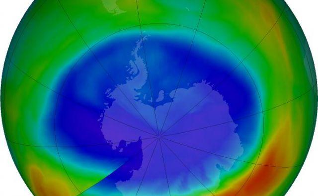 Ozonska luknja še ni povsem zaceljena. FOTO: Nasa