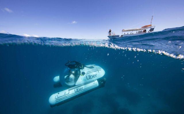 Nekaj izbranih Avstralcev bo kmalu lahko na otoku Heron v Queenslandu rezerviralo podmornico Uber za ogled Velikega koralnega grebena. FOTO: Handout/AFP