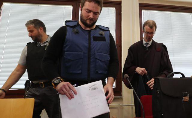 Sebastien Abramov včeraj na sodišču v Žalcu. FOTO: Dejan Javornik