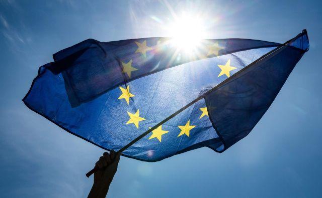 Evropske volitve potekajo med 23. do 26. majem.FOTO: Sina Schuldt/Afp