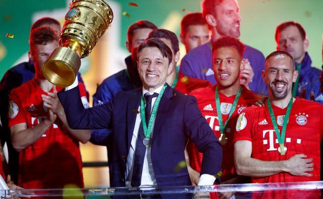 Bayern in Niko Kovač sta zelo vznemirljivo sezono zaključila v zmagovalnem ritmu, z dvojno krono. FOTO: Reuters