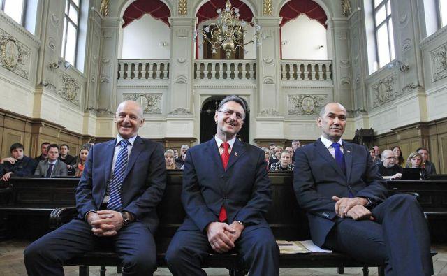 Primer Patria, v katerem so bili obsojeni Ivan Črnkovič, Tone Krkovič in Janez Janša, je po razveljavitvi obsodilne sodbe na ustavnem sodišču zastaral. FOTO: Leon Vidic