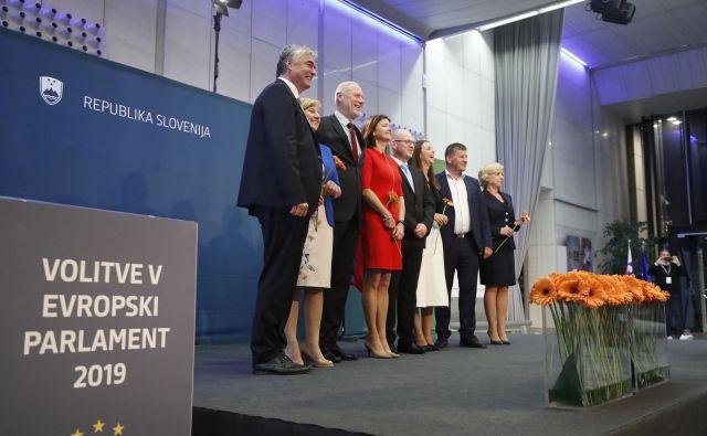 Teh osem poslancev bo v Evropskem parlamentu zastopalo interese Slovencev. FOTO:Leon Vidic/Delo