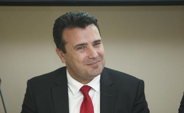 Zoran Zaev pričakuje, da bo Severna Makedonija junija le dobila datum za začetek pristopnih pogajanj z EU. FOTO: Jože Suhadolnik/Delo