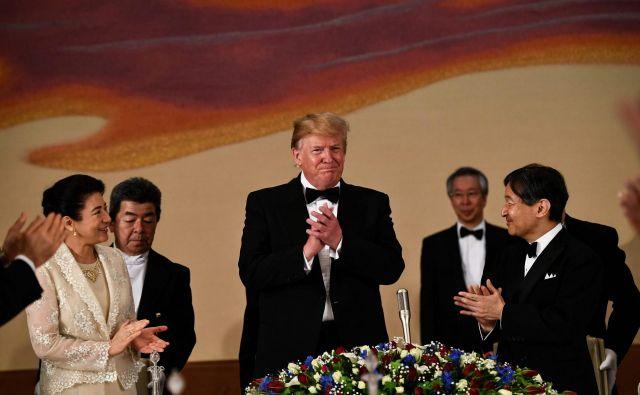 Ameriški predsednik Donald Trump na Japonskem. Foto: AFP