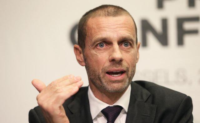 »Nogomet je edini evropski produkt, ki je z naskokom najboljši na svetu. Liga prvakov je globalno tekmovanje, vse bolj pomembna trga sta Kitajska in ZDA,« ocenjuje Čeferin. FOTO: Reuters