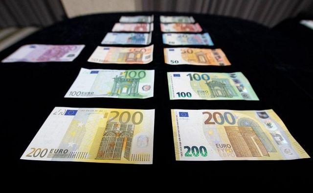 Evrski bankovci FOTO: Banka Slovenije