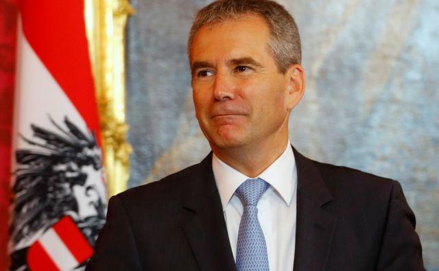 Hartwig Löger, kot vse kaže, ne bo dolgo zdržal na položaju kanclerja. FOTO: Reuters