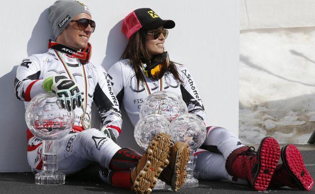 Marcel Hirscher in Anna Veith se še odločata, ali bosta nadaljevala kariero. FOTO: Reuters