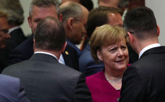 Tako kot pri drugih odločitvah bo nemška kanclerka Angela Merkel imela ključno vlogo tudi pri izbiranju ljudi za vodilne položaje v EU. FOTO: Francisco Seco/AFP