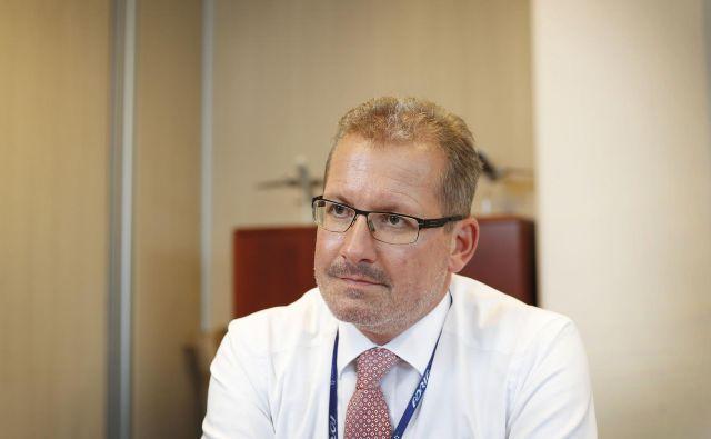 Glavni izvršni direktor Adrie Airways Holger Kowarsch (na fotografiji) se je prejšnji teden sestal s predsednikom vlade Marjanom Šarcem. FOTO: Leon Vidic/Delo