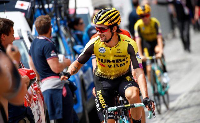 Rogličeva forma ni več tako bleščeča, kot je bila na dirki po Romandiji, kljub temu pa ne obupuje. FOTO: AFP