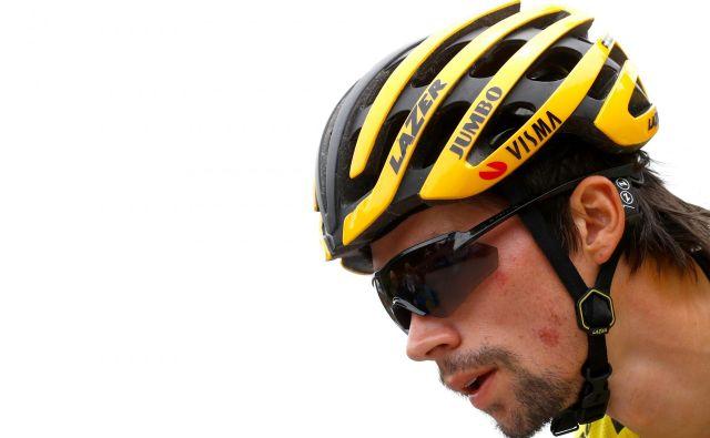 Primož Roglič je imel v zadnjih dneh težave z želodcem, upati je, da so se mu moči povrnile pred odločilnimi etapami Gira. FOTO: AFP