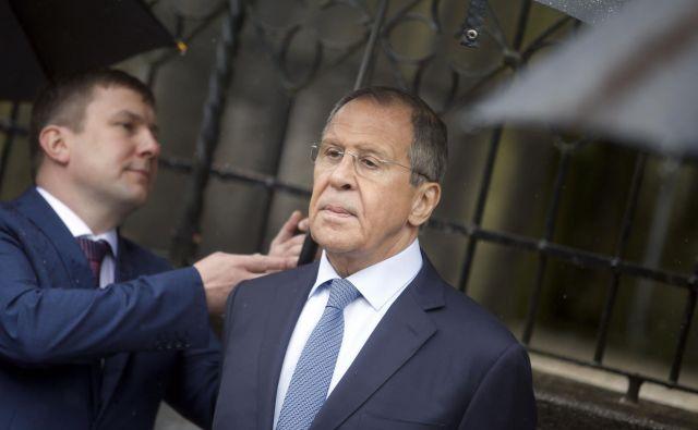 Sergej Lavrov, zunanji minister Ruske federacije, je danes obiskal Šmartno pri Litiji. FOTO: Roman Šipić/Delo