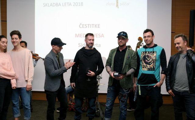 Letošnji nagrajenci Zala Kralj & Gašper Šantl in Siddharta Foto Zlata Piščal
