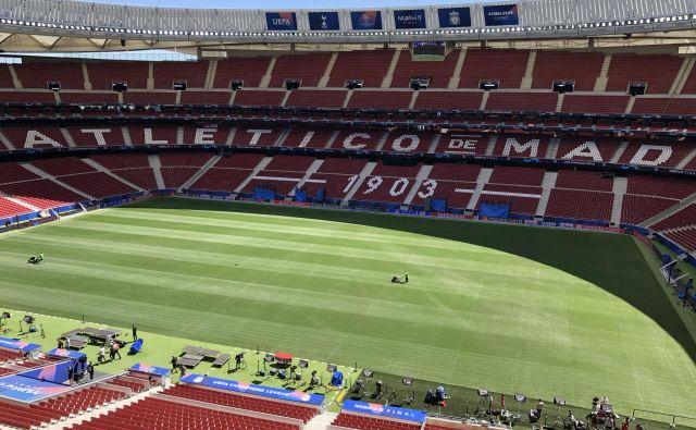 Štadion Wanda Metropolitano bo gostil veliki finale lige prvakov. Foto Aljaž Vrabec