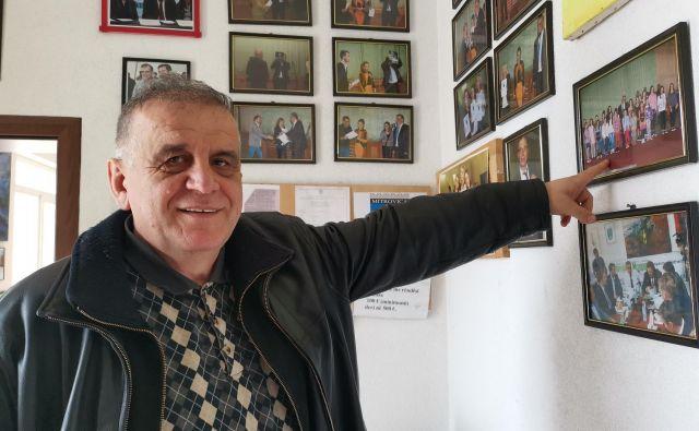 Nexhmedin Spahiu na Univerzi v Prištini predava politike balkanskih držav in teorije narodov. Foto Milena Zupanič