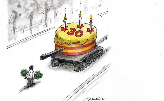 Mao je pokazal, kako nevarna je lahko demokracija na ulici. KARIKATURA: Marko Kočevar