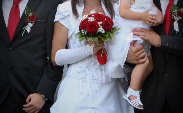Statistika kaže, da »za vedno« pri več kot tretjini poročenih parov traja le nekaj let. FOTO: Jure Eržen/Delo