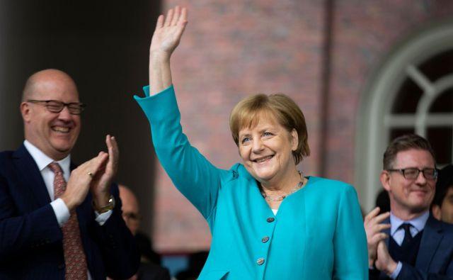 Nemška kanclerka Angela Merkel v Harvardu. FOTO: AFP<br />