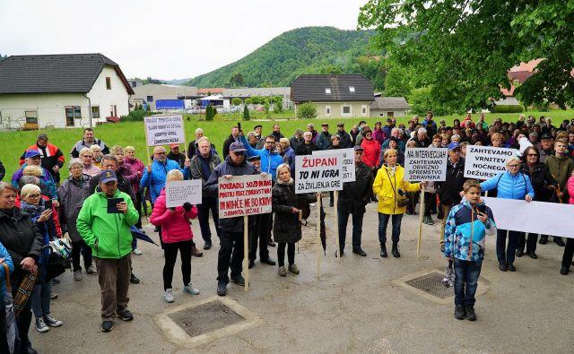 Zahteve Zgornjesavinjčanov se od protesta sredi maja niso spremenile. FOTO: Brane Piano/Delo