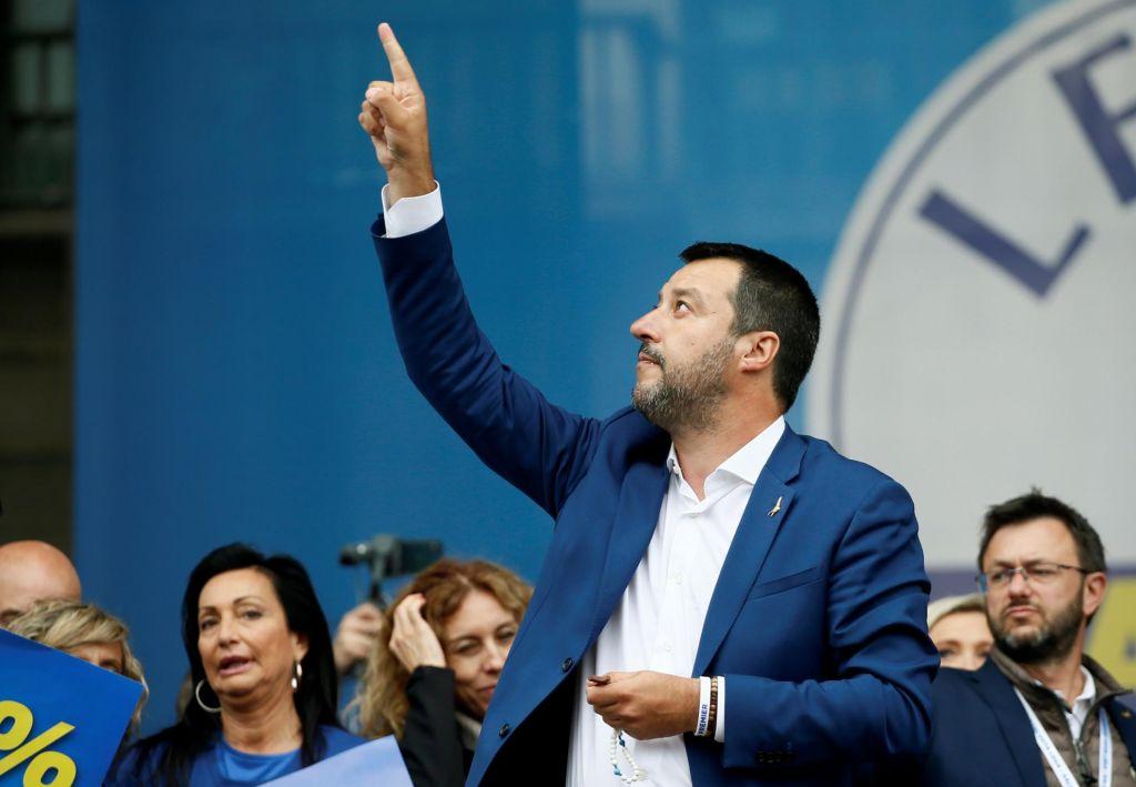 FOTO:Prihodnost vlade v Salvinijevih rokah