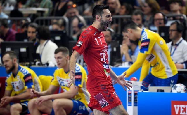 Bivši slovenski reprezentant Dragan Gajić je bil eden od najboljših pri Veszpremu, ki se bo za naslov evropskega prvaka pomeril s skopskim Vardarjem. FOTO: AFP