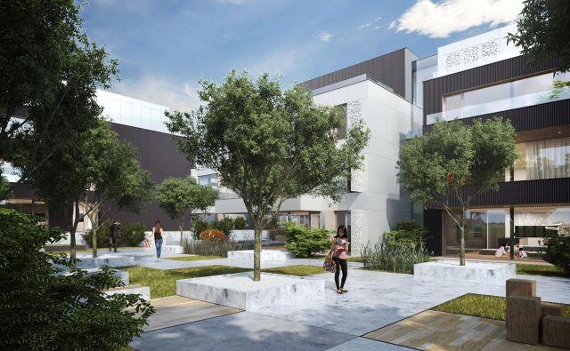 Takšna naj bi bila nova podoba stanovansjke soseske, ki naj bi jo zgradili v poldrugem letu. Foto Gh Holding