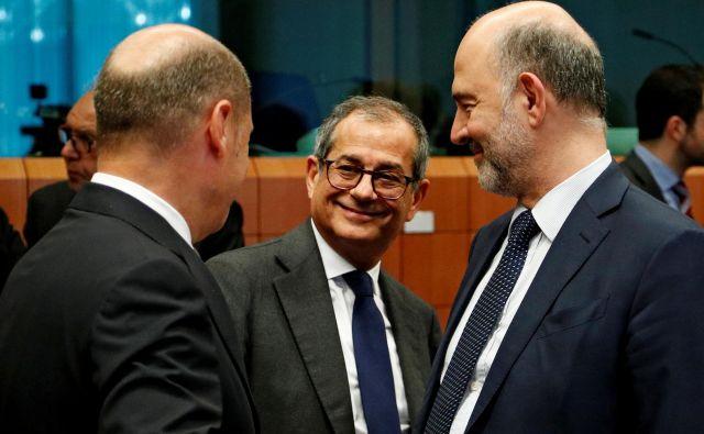 Italijanski finančni minister Giovanni Tria bo znova moral pojasnjevati zviševanje dolga. FOTO: Reuters