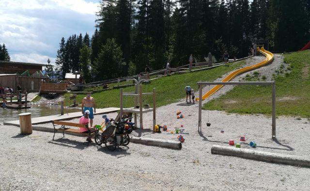 Na Mariazeller Bürgeralpe je urejen otroški park. Foto Mitja Felc